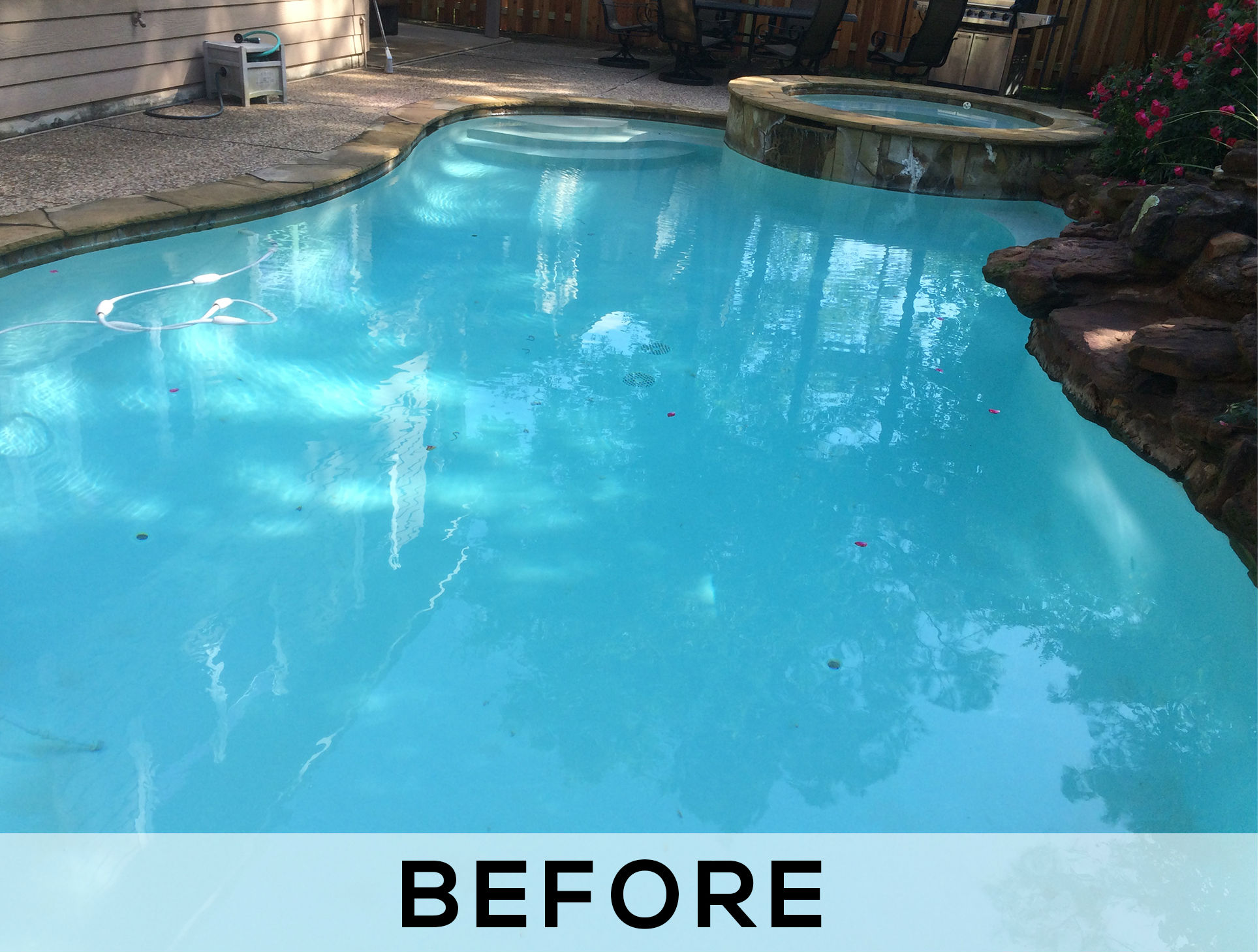 Pool Resurfacing Services - Before