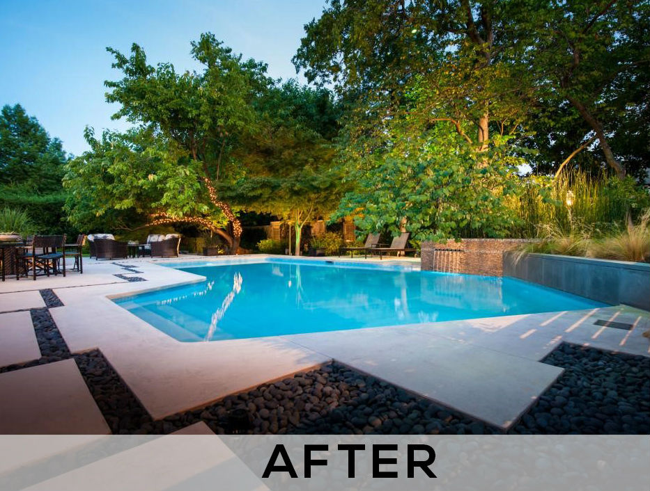 swimming pool resurfacing - after