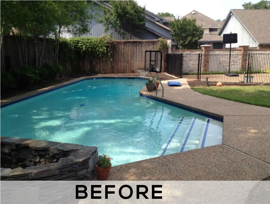 pool remodeling montgomery tx - before