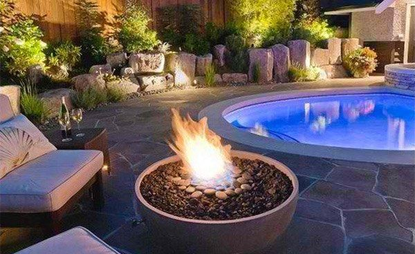 Outdoor Pool Firepit